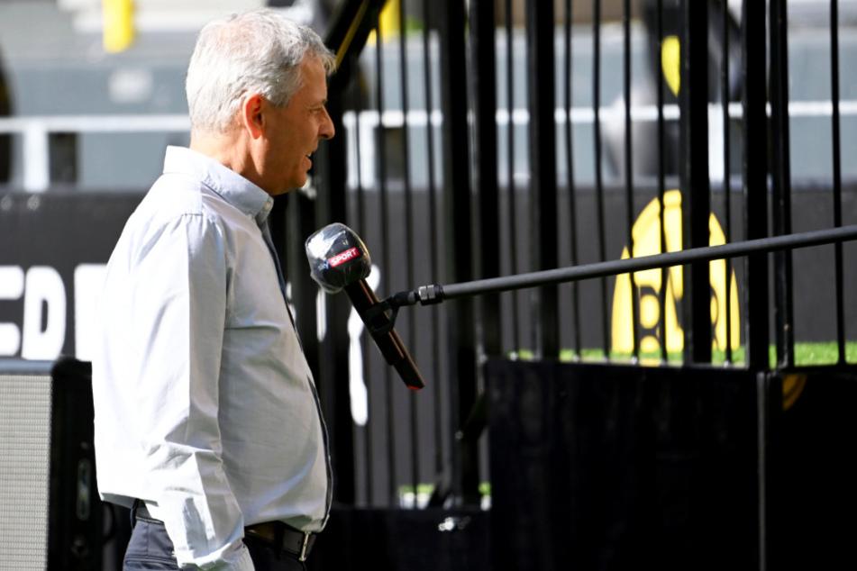 "BVB-Coach Lucien Favre vor dem Spiel im Interview bei ""Sky""."