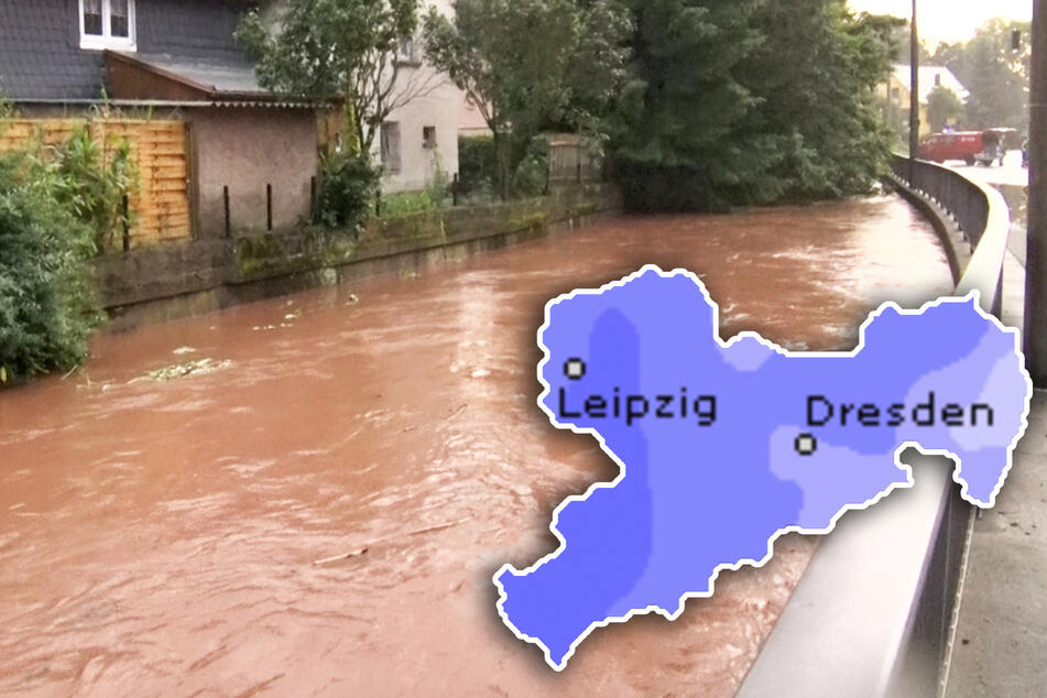 Heftiger Regen in Sachsen: Jetzt drohen Hochwasser!