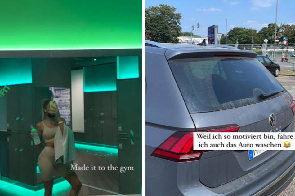 Erst das Training, dann die Autowäsche: Gerda Lewis (28) war motiviert und hatte für ihren Freitag einige Pläne...