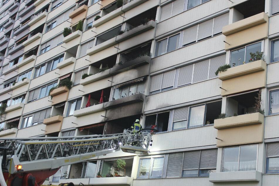 Bei dem Brand in dem Hochhaus entstand ein Schaden von rund 200.000 Euro.