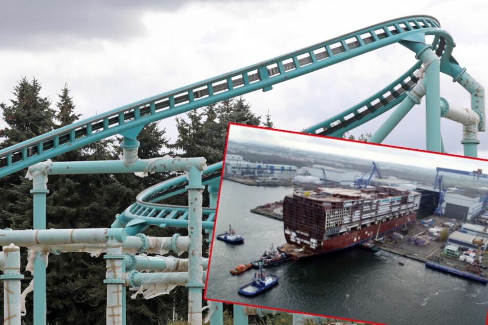 Achterbahn für größtes Kreuzfahrtschiff der Welt im Probebetrieb