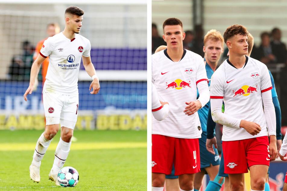 Tom Krauß (20, l.), Frederik Jäkel (20, v.-M.) und Eric Martel (19, v.-r.) wurden allesamt bei RB Leipzig ausgebildet. Mit Keeper Tim Schreiber (19) steht noch ein vierter Ex-Bulle im Aufgebot.