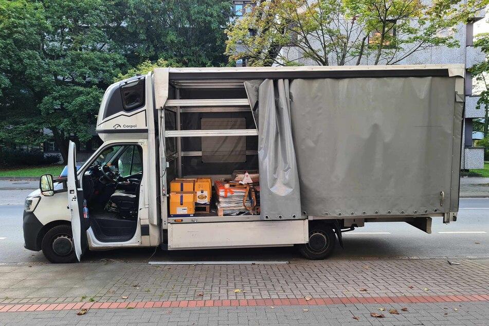 In dem Lastwagen befanden sich mehrere Kartons mit insgesamt 78 Kilogramm Heroin.