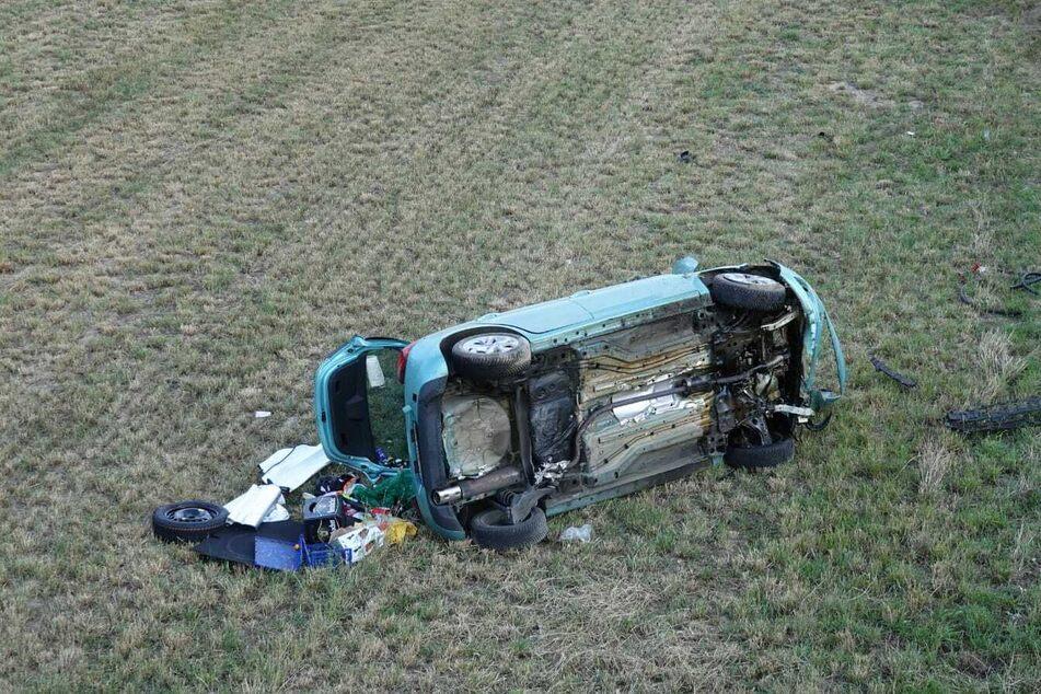 Mehrfach hatte sich das Auto der 74-Jährigen auf einem Feld überschlagen.