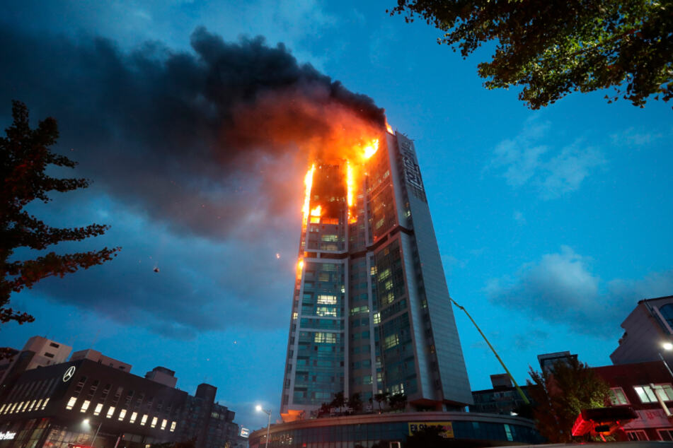 Dozens of people have been injured in a fire in Ulsan.
