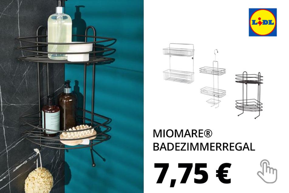 MIOMARE® Badezimmerregal, mit Ablagekörben, Korrosionsschutz, aus Edelstahl