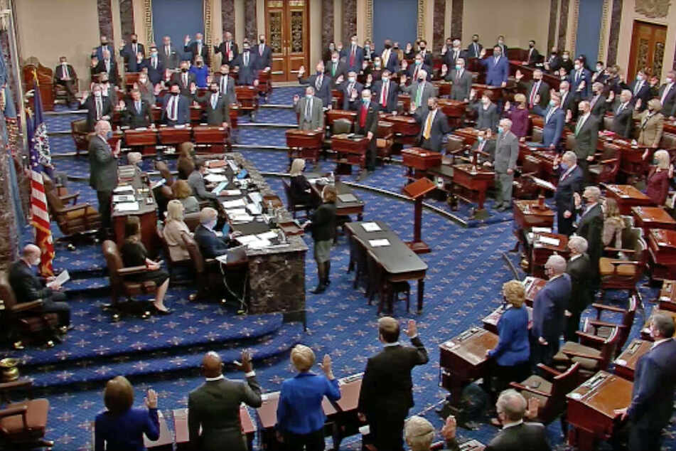 Majority of Senate Republicans vote against Trump impeachment trial
