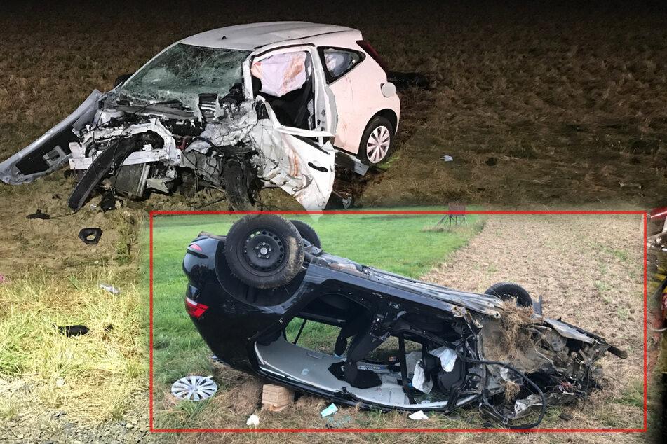 Frontal-Crash: 21-Jährige stirbt an Unfallstelle, 23-Jähriger schwer verletzt