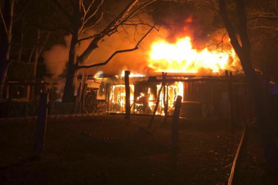 """In der Nacht zu Mittwoch ist in Berlin-Kreuzberg beim Brand des Restaurants """"Brachvogel"""" ein Mann verletzt worden."""