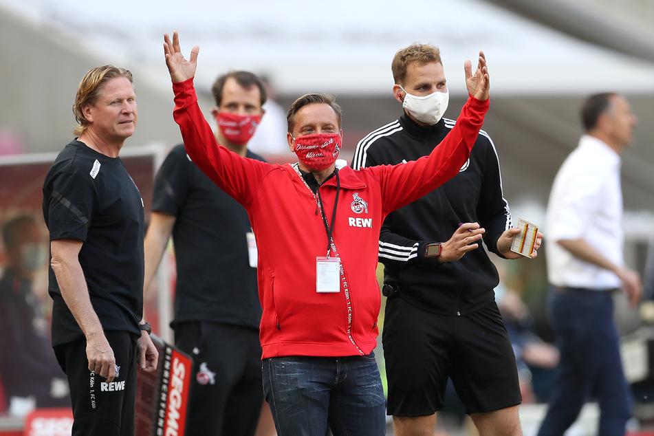 Horst Heldt vom 1. FC Köln sprach nach dem Unentschieden gegen Fortuna Düsseldorf über die Leistung der Kölner.