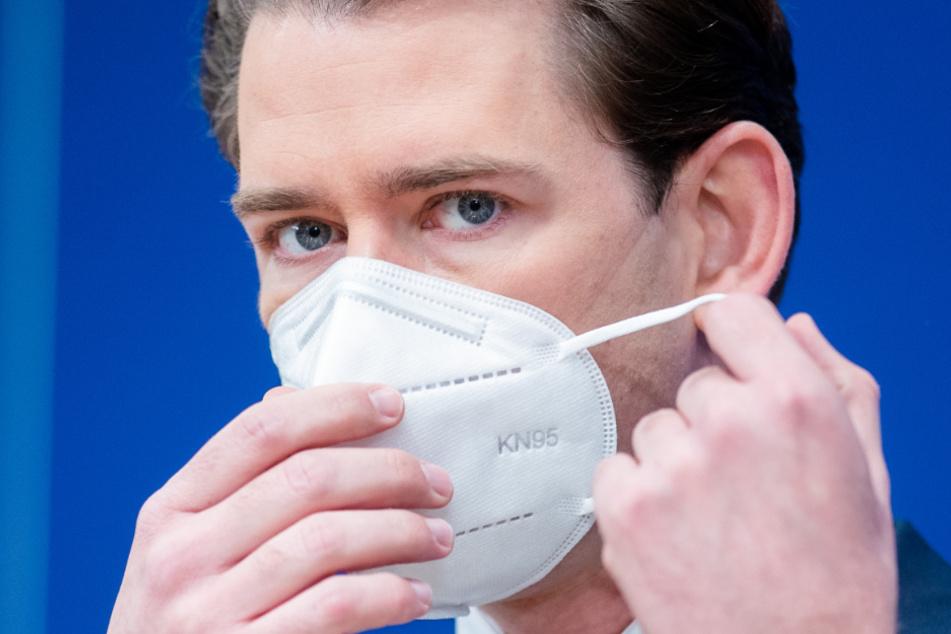 Sebastian Kurz (ÖVP), Bundeskanzler von Österreich, muss nun auch in seinem Land die britische Coronavirus-Variante verkraften.