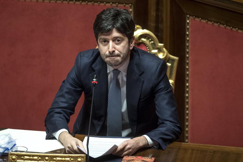 Roberto Speranza, Gesundheitsminister von Italien, hält in der Abgeordnetenkammer eine Rede zur Coronavirus-Krise.