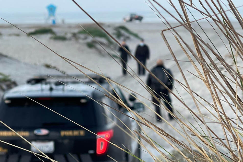A marital dispute nearly came to a deadly end on this California beach.