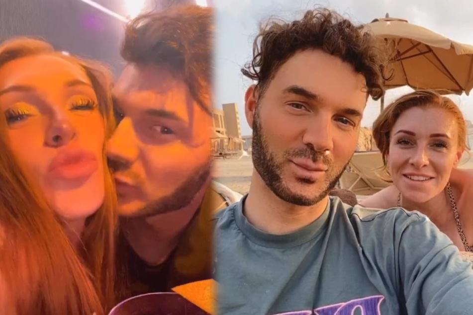 Sam Dylan (29) und Georgina Fleur (30) wollen sich von Rafi Racheks (30) Anschuldigungen nicht die Urlaubsstimmung verderben lassen. (Fotomontage)