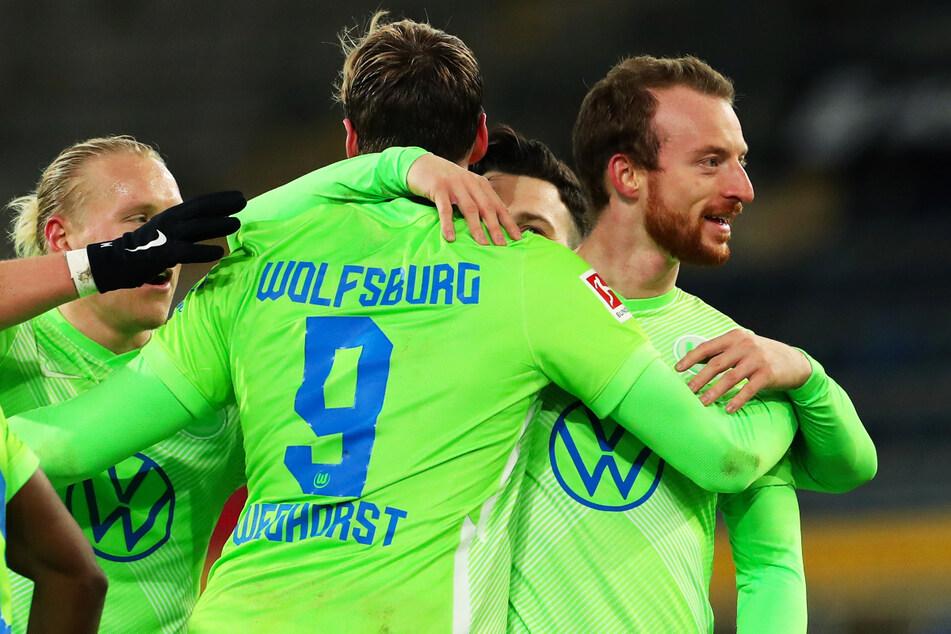 Ex-Dynamo-Jugendspieler Maximilian Arnold (26, r.) befindet sich in bestechender Form. Auch dank ihm steht der VfL Wolfsburg auf Rang drei, der die Champions-League-Qualifikation zur Folge hätte.