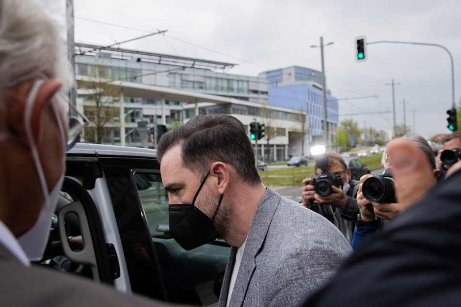 Christoph Metzelder nach der Verhandlung am Düsseldorfer Amtsgericht.
