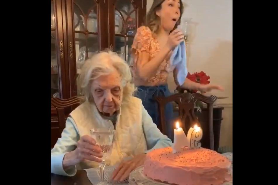 Die Großmutter hatte an ihrem 94. Geburtstag etwas Wichtiges zu sagen.