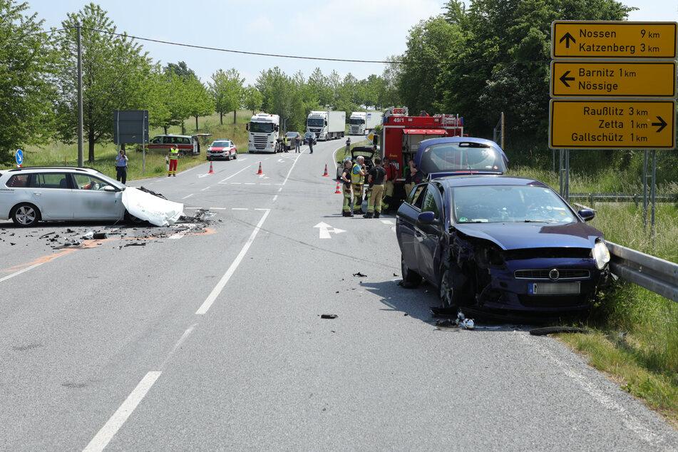 Die Straßenschilder helfen bei der Orientierung. Demnach geschah das Unglück etwa 9 Kilometer nördlich von Nossen.