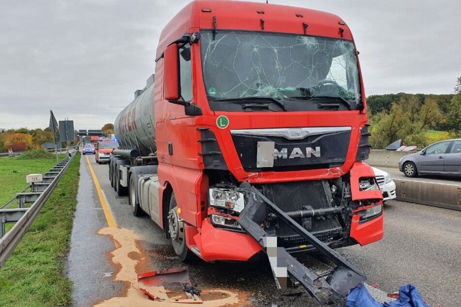 Verkehrschaos auf der A6 nach zwei Unfällen in beide Richtungen