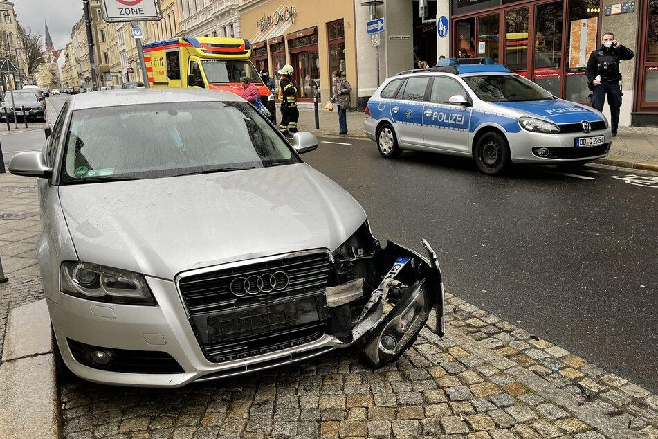 Der silbergraue Audi trug ebenfalls Schäden davon.