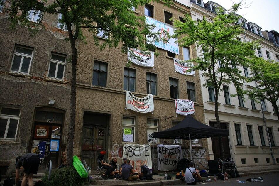 Die Ludwigstraße 71 in Leipzig wurde am vergangenen Freitag von Aktivisten besetzt.
