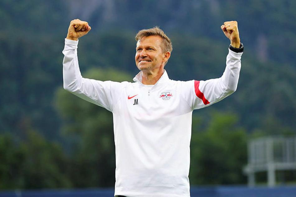 RB-Trainer Jesse Marsch (47) freute sich über das Remis gegen Ajax Amsterdam.