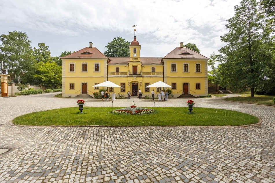 So süffig können Pferdeställe sein: Wo einst gewiehert wurde, wird jetzt Proschwitz Wein geschlürft.
