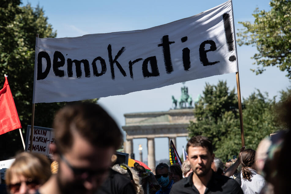 """Das Motto der Demonstration lautete """"Das Ende der Pandemie - Tag der Freiheit""""."""