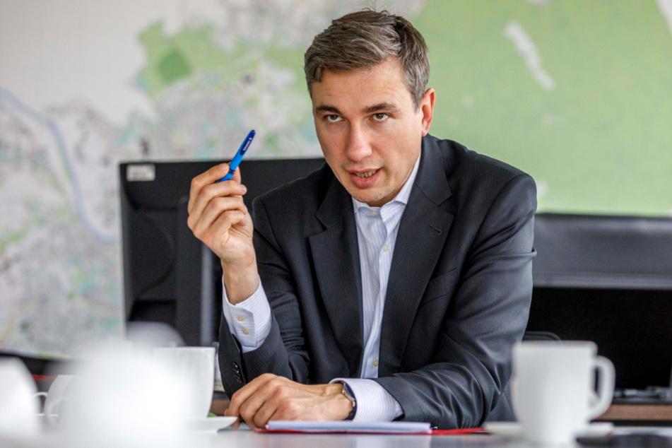 Baubürgermeister Stephan Kühn (41, Grüne) ist seit Anfang der Woche im Amt.