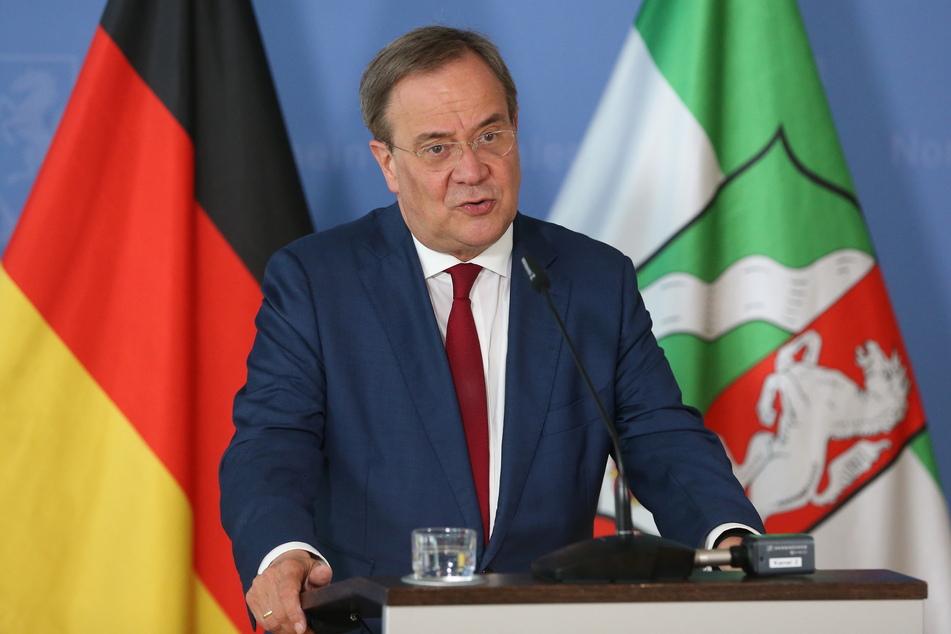 Nordrhein-Westfalens Ministerpräsident und Unions-Kanzlerkandidat, Armin Laschet (60, CDU).