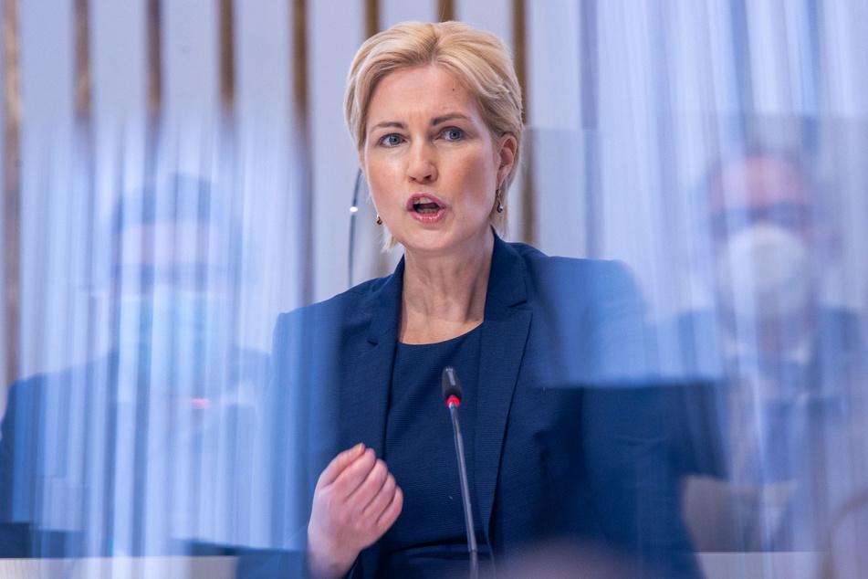 Manuela Schwesig (46, SPD), Ministerpräsidentin von Mecklenburg-Vorpommern.