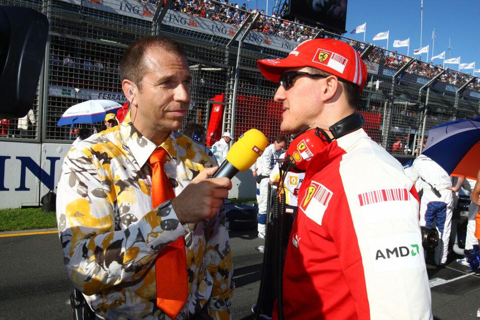 Unzählige Male hat Ebel den siebenmaligen Formel-1-Weltmeister interviewt, hier im Jahr 2009.