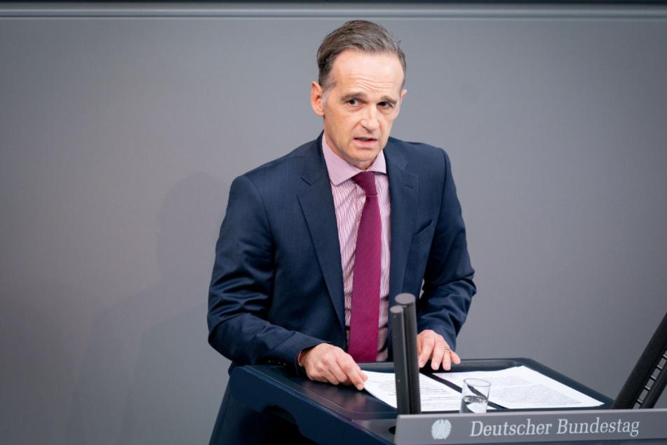 Außenminister Heiko Maas (SPD) spricht während der 177. Sitzung des Bundestags zu den Abgeordneten. Zuletzt hatte er den Druck auf Moskau deutlich erhöht.