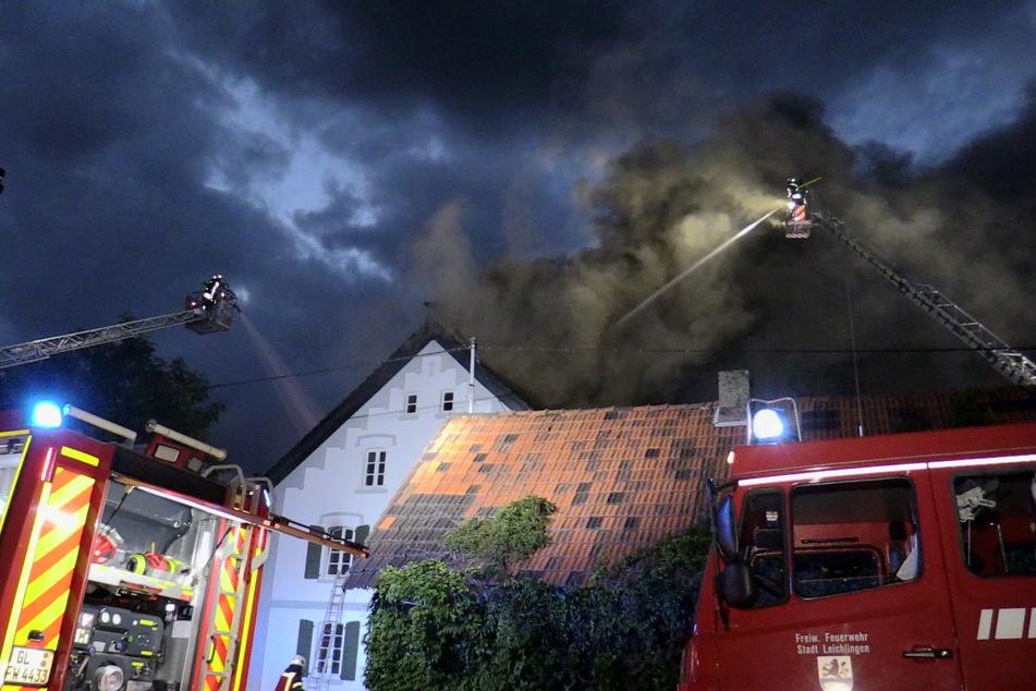 Das Feuer im Dachstuhl richtete einen verheerenden Schaden an.