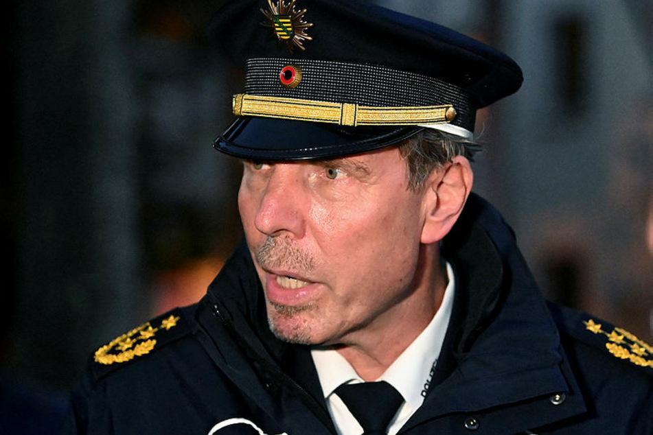Entschied sich für Gewaltlosigkeit: Leipzigs Polizeipräsident Torsten Schultze (55).