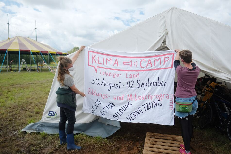 Derzeit findet das Klimacamp Leipziger Land statt. Dort kamen Vertreter verschiedener Klima-Bündnisse zusammen, um gemeinsame Ziele zu formulieren.