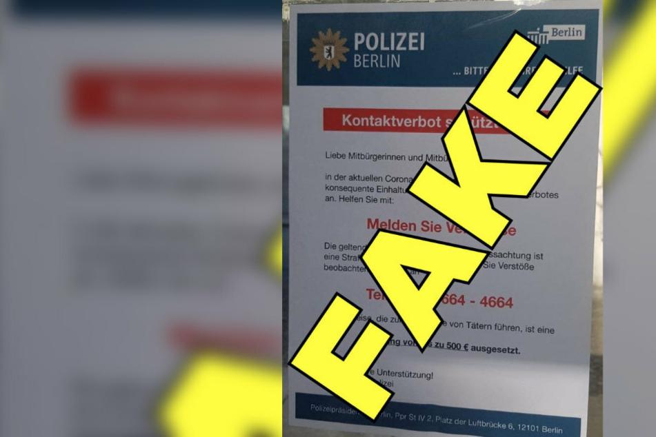 Vorsicht! Polizei warnt: Fake-Plakat zu Coronavirus-Verstößen kursiert im Netz