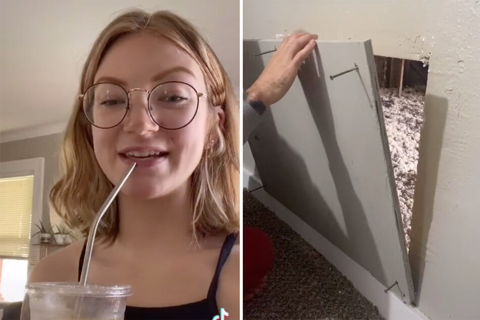 TikTok user tries to solve the baffling attic mystery of her new house