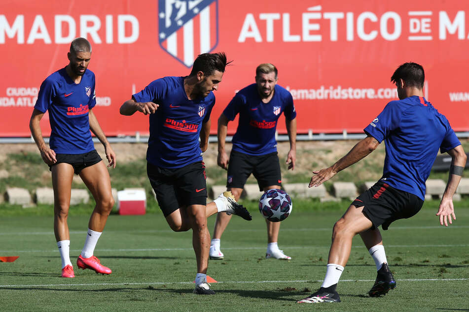 Atlético Madrid beim Training.