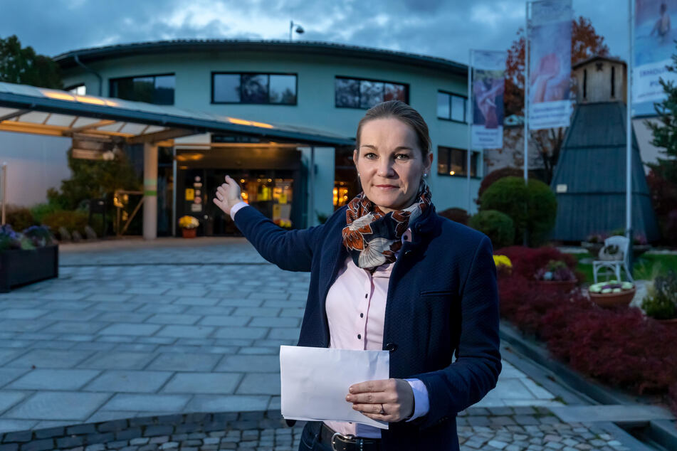 Geschäftsführerin Kathrin Bösecke-Spapens plant einen Großumbau des Gesundheitsbades in Bad Schlema.