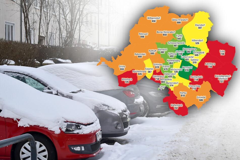 Chemnitz: In diesen Ortsteilen gibt's die meisten Autos pro Einwohner