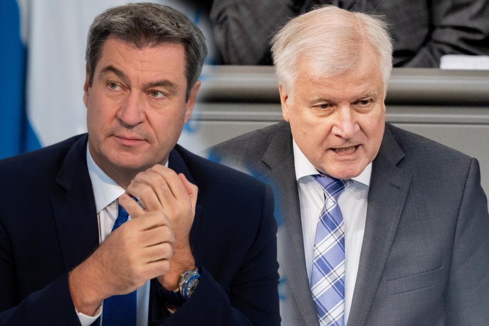 Bayerns Ministerpräsident Markus Söder (links) und Bundesinnenminister Horst Seehofer. (Montage)