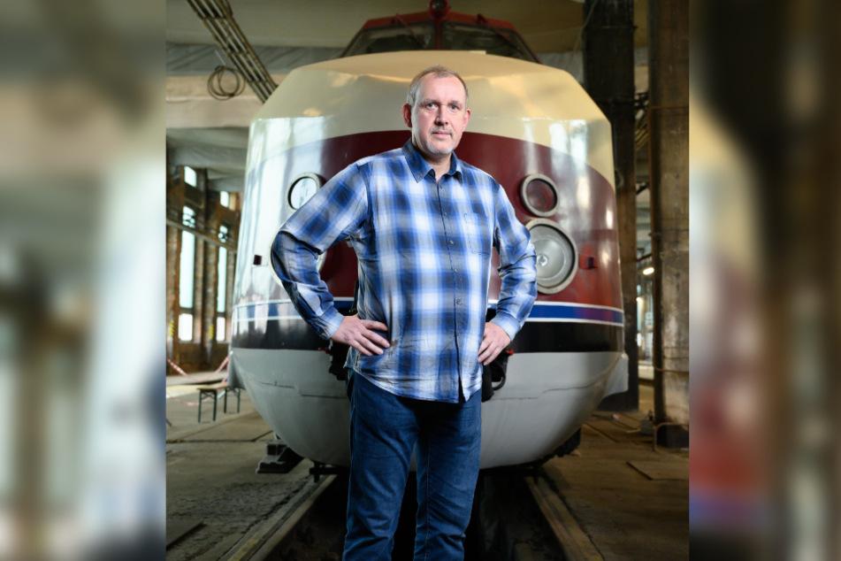 """Hat sich viel vorgenommen: Gunnar Kloß (55) von der Betreibergesellschaft SVT Görlitz will den """"ICE des Ostens"""" innerhalb von zwei Jahren wieder flottmachen."""