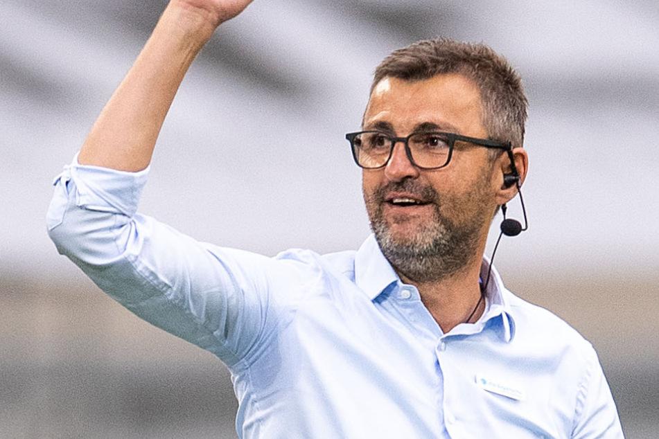 Löwen-Coach Michael Köllner (51) will nicht über einen mögliche Aufstieg spekulieren.