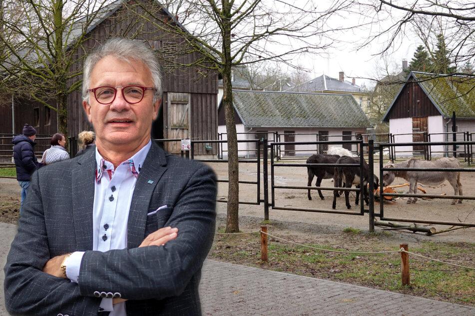 Steffen Wegert (64, AfD) ist dafür, dass Chemnitzer Attraktionen (hier der Tierpark) ausgebaut werden müssen.