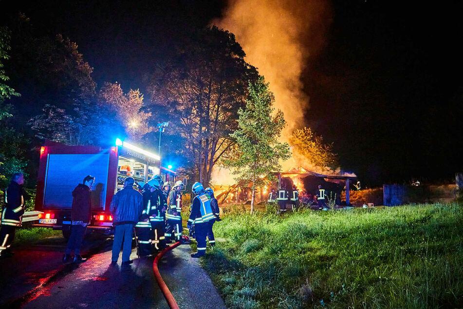 Die Feuerwehr war mit einem Großaufgebot im Sebnitzer Ortsteil Schönach zu Gange.