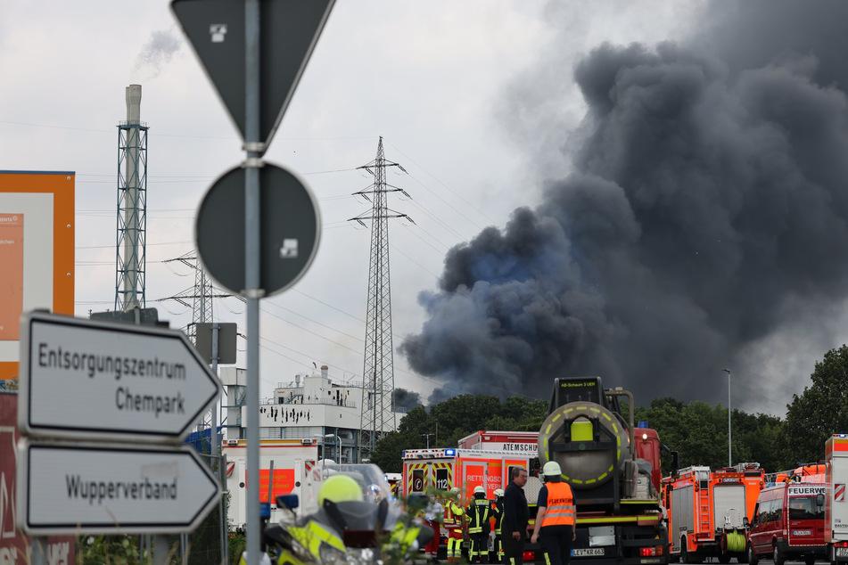 In der Müllverbrennungsanlage auf dem Chempark-Gelände war es am Dienstag zu der großen Explosion gekommen.