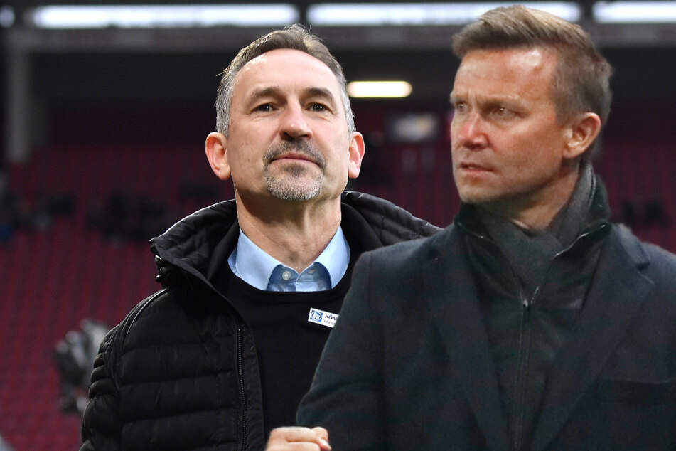 RB Leipzig neuer Co-Trainer Achim Beierlorzer (53, l.) ist sicher, dass eine gute Zusammenarbeit mit Cheftrainer Jesse Marsch (47) auf ihn zukommen wird. (Archivbilder)