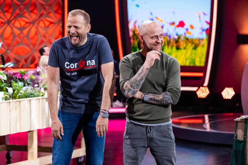 """Ausgelacht! Comedian Mario Barth (48) und Schauspieler Jürgen Vogel (53) trafen mit der neuen Spielshow """"Du musst dich entscheiden"""" nicht den Nerv des Publikums."""