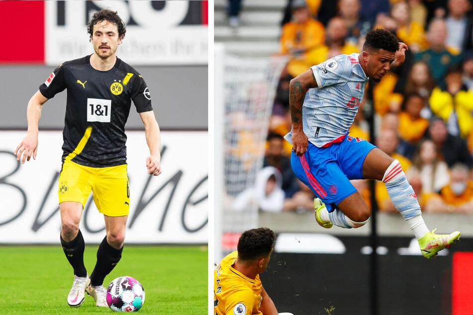 Thomas Delaney (29, l.) und Jadon Sancho (22, r.) haben Borussia Dortmund verlassen.